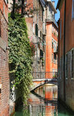 Houses on the water street in Venice — Stock Photo