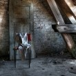 Attic in an Abandoned house — Stok fotoğraf