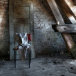 Attic in an Abandoned house — Stock Photo