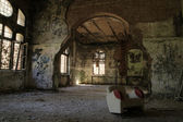 Interior from the famous abandoned Hospital — Stock Photo