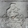 Bas-relief of dancing goddesses, Angkor Wat, Cambodia — Stock Photo