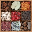Spices in wooden box — Stock Photo