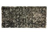 Escritura china antigua en pared (piedra frotamiento) — Foto de Stock