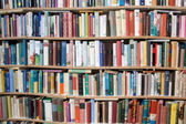 Library background - blurred for background usage — Stock Photo