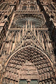 Details of the Cathedral facade, Strasbourg, France — Stock Photo