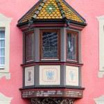 Oriel Window on red wall — Stock Photo #46661519