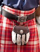 Details of Scottish kilt — Stock Photo