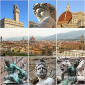 Florence collage, Italy — Stock Photo