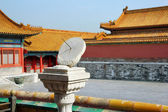 Ancient sundial in old Beijing, China — Stock Photo