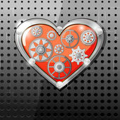 Srdce s koly — Stock vektor