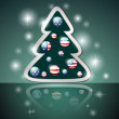 AmericChristmas tree — Stock Vector #12843991