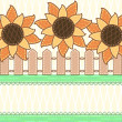 Scrapbook styled card with sunflowers — Stock Photo