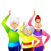 Gymnastics for senior women — Stock Vector