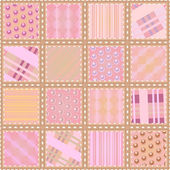 Seamless quilt texture — Stock Vector