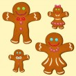 Gingerbread family — Stock Vector