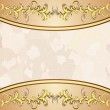Vintage background with golden floral decoration — Vetor de Stock  #13362799
