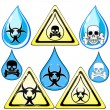 Signs for dangerous liquid — Stock Vector