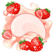 Strawberry splash — Stock Vector
