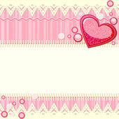 Pink scrapbook background with heart — Stock Vector