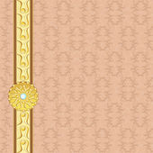 Sfondo vintage con distintivo d'oro — Vettoriale Stock