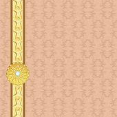 Vintage achtergrond met gouden badge — Stockvector