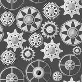 Seamless gear texture — Stock Vector