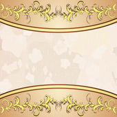 Vintage background with golden floral decoration — Stock Vector