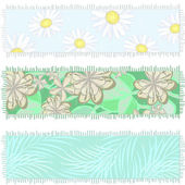 Banners made of old fabric — Stockvector