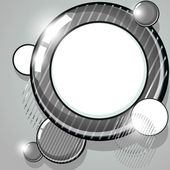 Gray striped speech bubble — Stock Vector