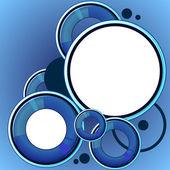 Blue abstract speech bubble — Stock Vector