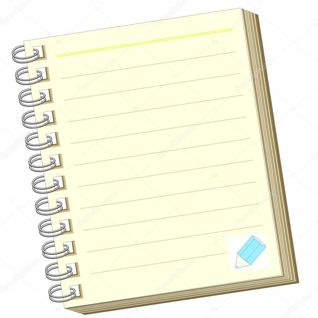 打开笔记本 — 图库矢量图像08