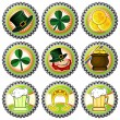 Royalty-Free Stock Vector Image: Parchment with Saint Patrick&#039;s Day symbols