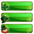 Banners for Saint Patrick's Day - Stock Vector