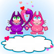 Cats in love — Stock Vector