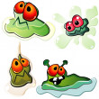 Slimy germs - Stock Vector
