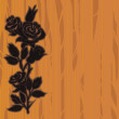 Woodcut roses — Vetorial Stock #13376424
