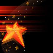 Svart bakgrund med stjärna — Stockvektor
