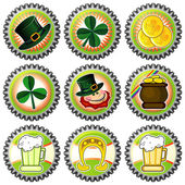Parchment with Saint Patrick's Day symbols — Stock Vector