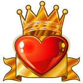 Royal heart — Stock Vector