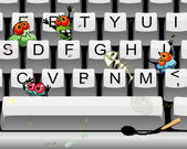 Dirty keyboard — Vector de stock