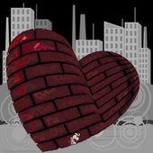 Staden kärlek koncept — Stockvektor