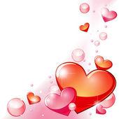 Corações e bolhas — Vetor de Stock