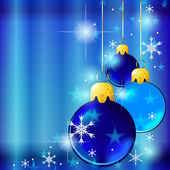 Modrý vánoční koule — Stock vektor