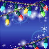 Christmas lights — Stock Vector