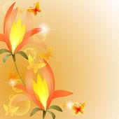 Exotická květina — Stock vektor