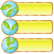 Three eco banners — Stock Vector