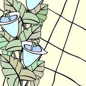 Målat glas med callas — Stockvektor