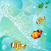 Pescados y mar resumen — Vector de stock
