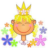 Princesinha das flores — Vetorial Stock
