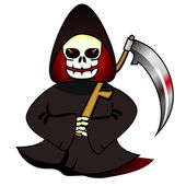 Reaper with scythe — Stock Vector